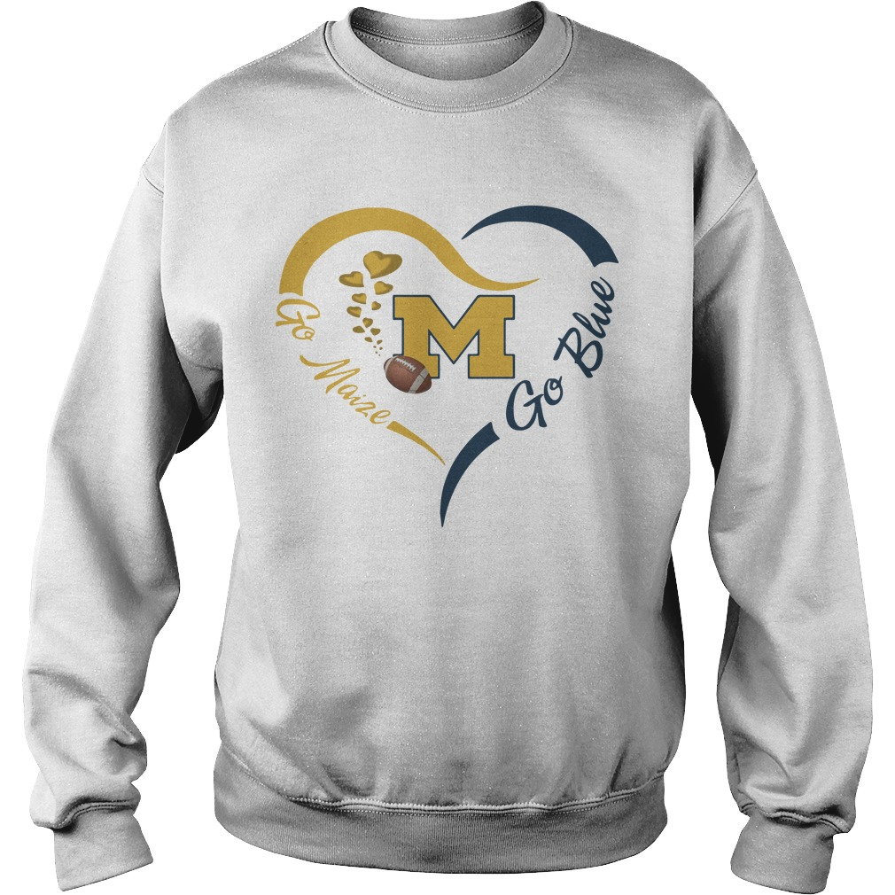 Michigan Wolverines Go Maize Go Blue Sweater
