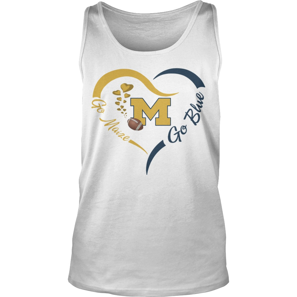 Michigan Wolverines Go Maize Go Blue Tank Top