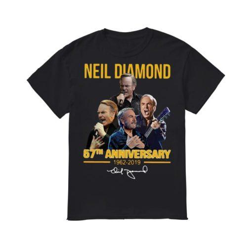 Neil Diamond 57th Anniversary 1962 2019 Signature Shirt