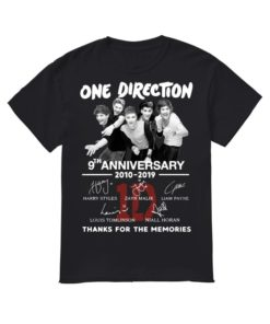 One Direction 9th Anniversary 2010 2019 Thanks For The Memories Shirt.jpg
