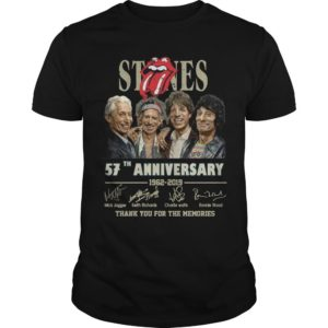 Rolling Stones 57th Anniversary 1962 2019 Thank You For The Memories Shirt