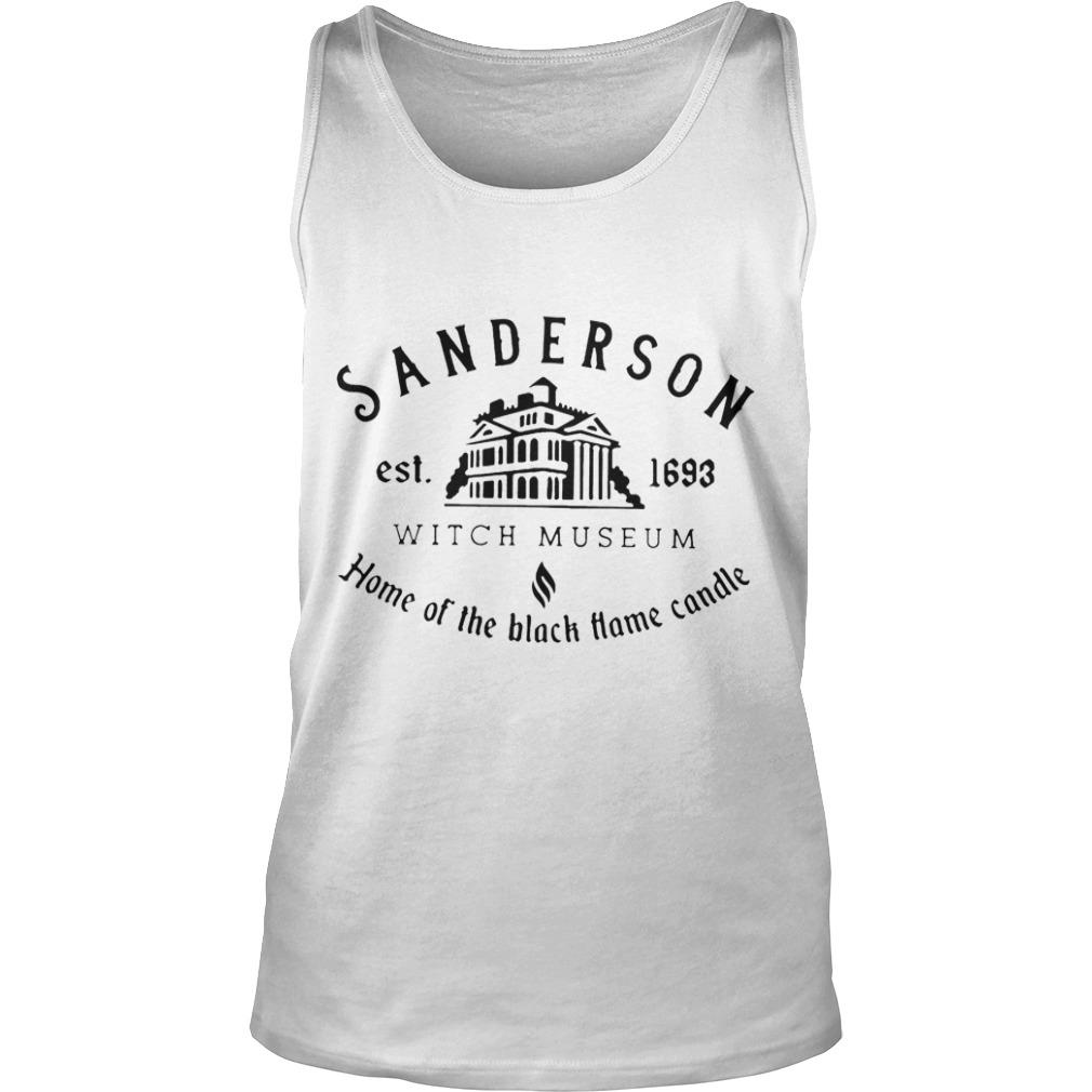 Sanderson Est 1693 Witch Museum Home Of The Black Hame Candle Tank Top