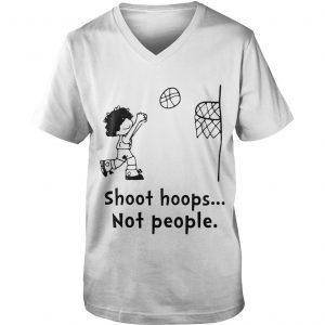 Shoot Hoops Not People Guys V-neck Shirt