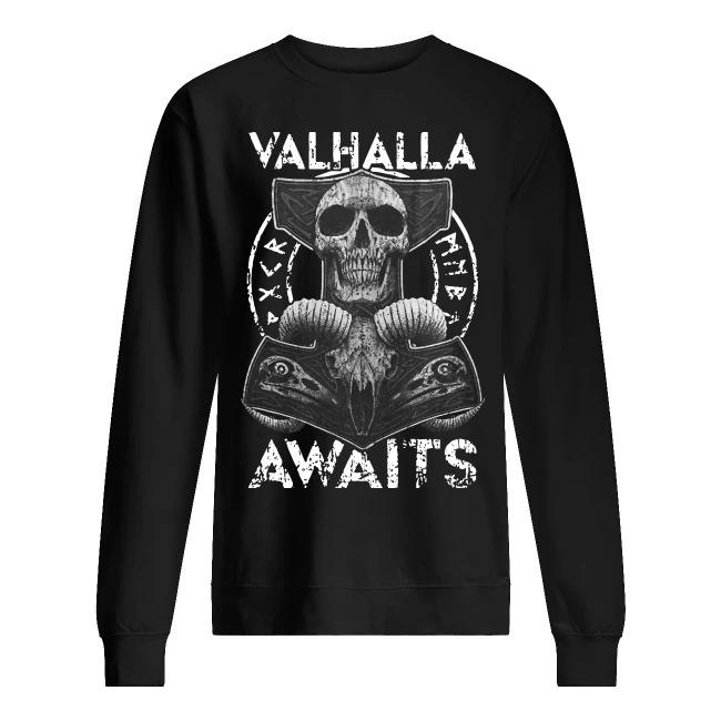 Skull Valhalla Awaits Sweater