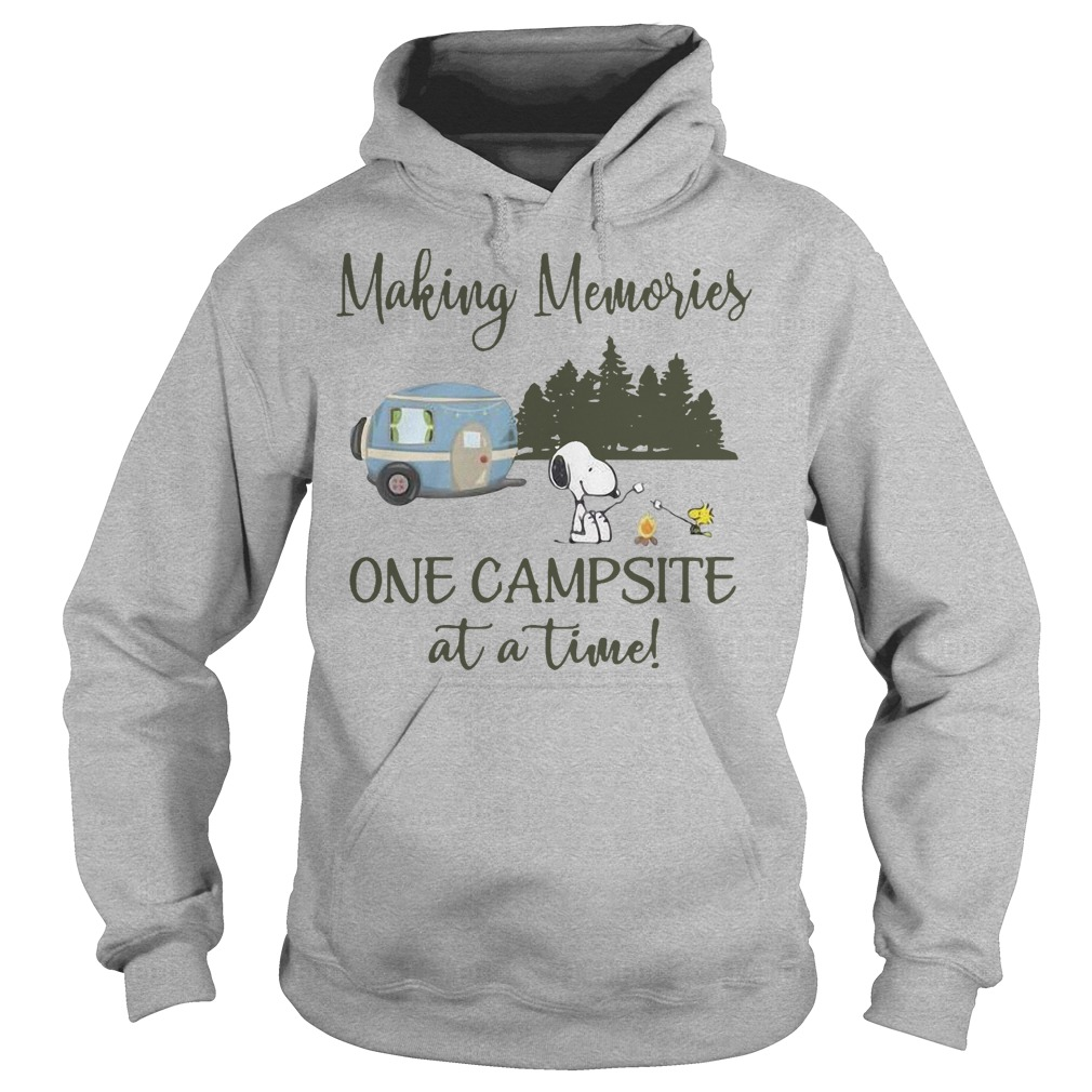 Snoopy And Woodstock Making Memories One Campsite At A Time Hoodie