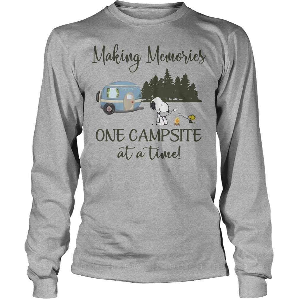 Snoopy And Woodstock Making Memories One Campsite At A Time Longsleeve