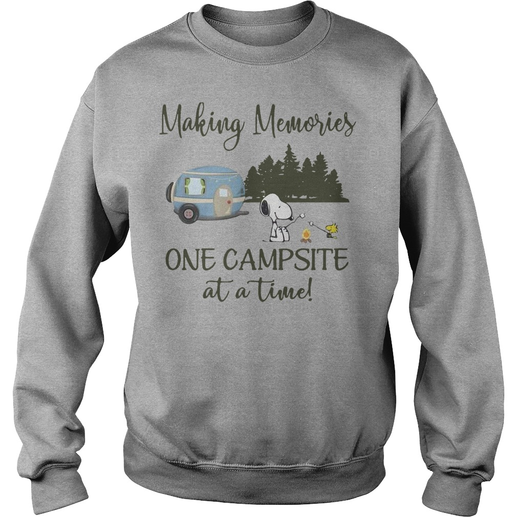 Snoopy And Woodstock Making Memories One Campsite At A Time Sweater
