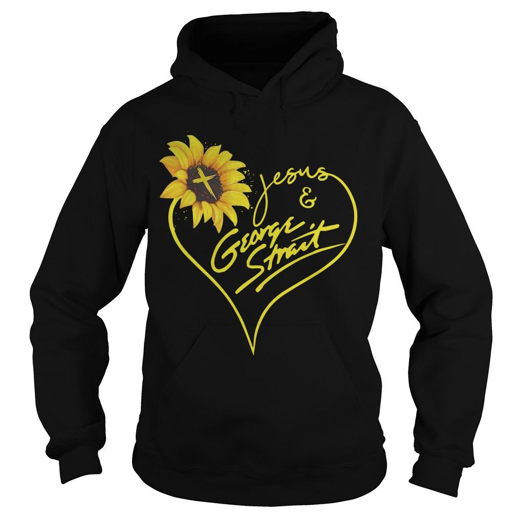 Sunflower Jesus And George Strait Hoodie