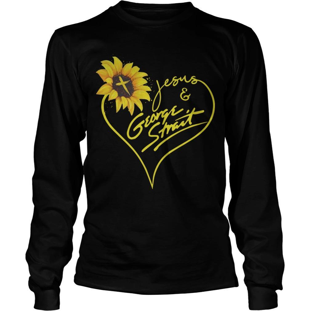 Sunflower Jesus And George Strait Longsleeve