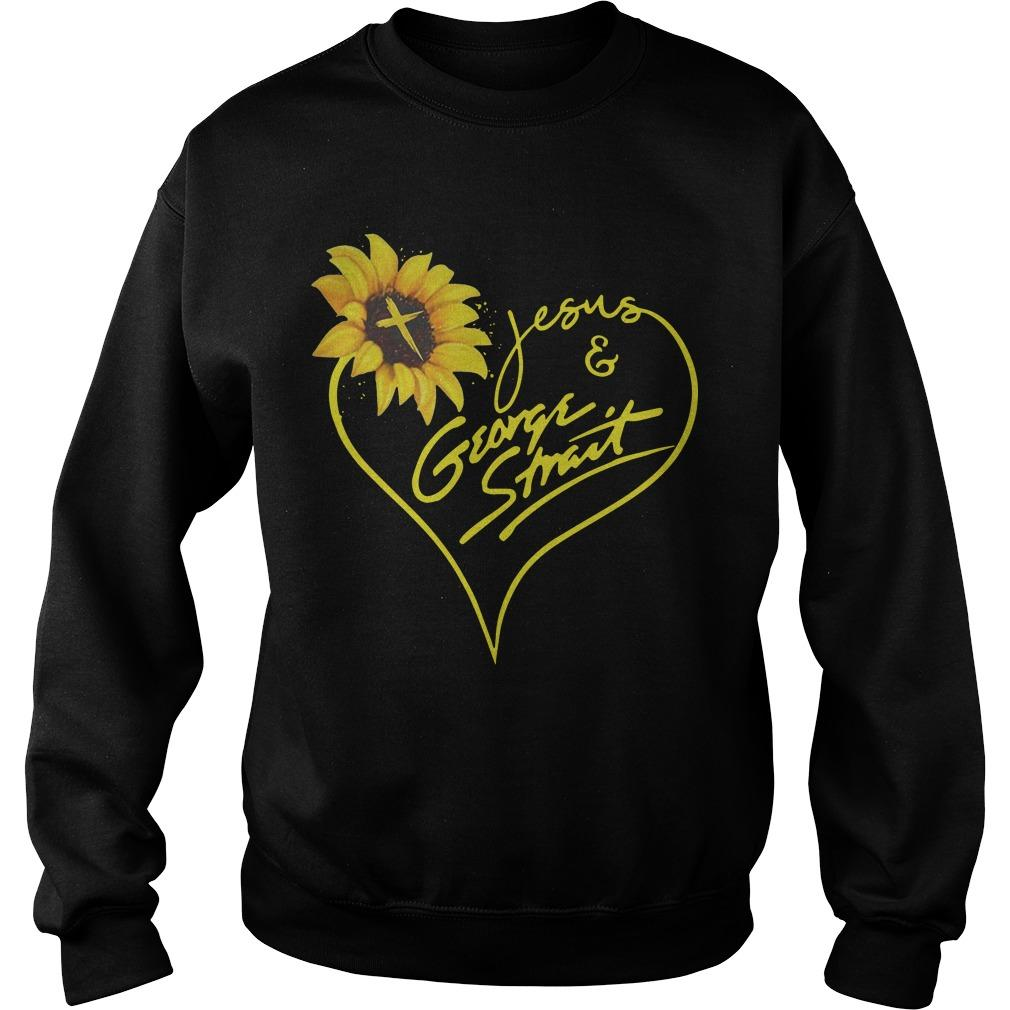 Sunflower Jesus And George Strait Sweater