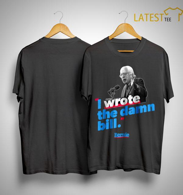 Sunset I Wrote The Damn Bill Sanders 2020 Vintage Shirt