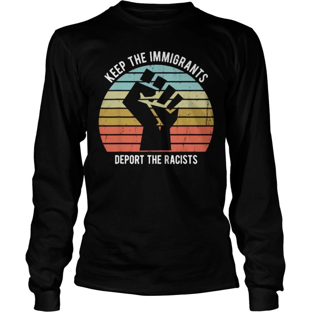 Sunset Keep The Immigrants Deport The Racists Vintage Longsleeve