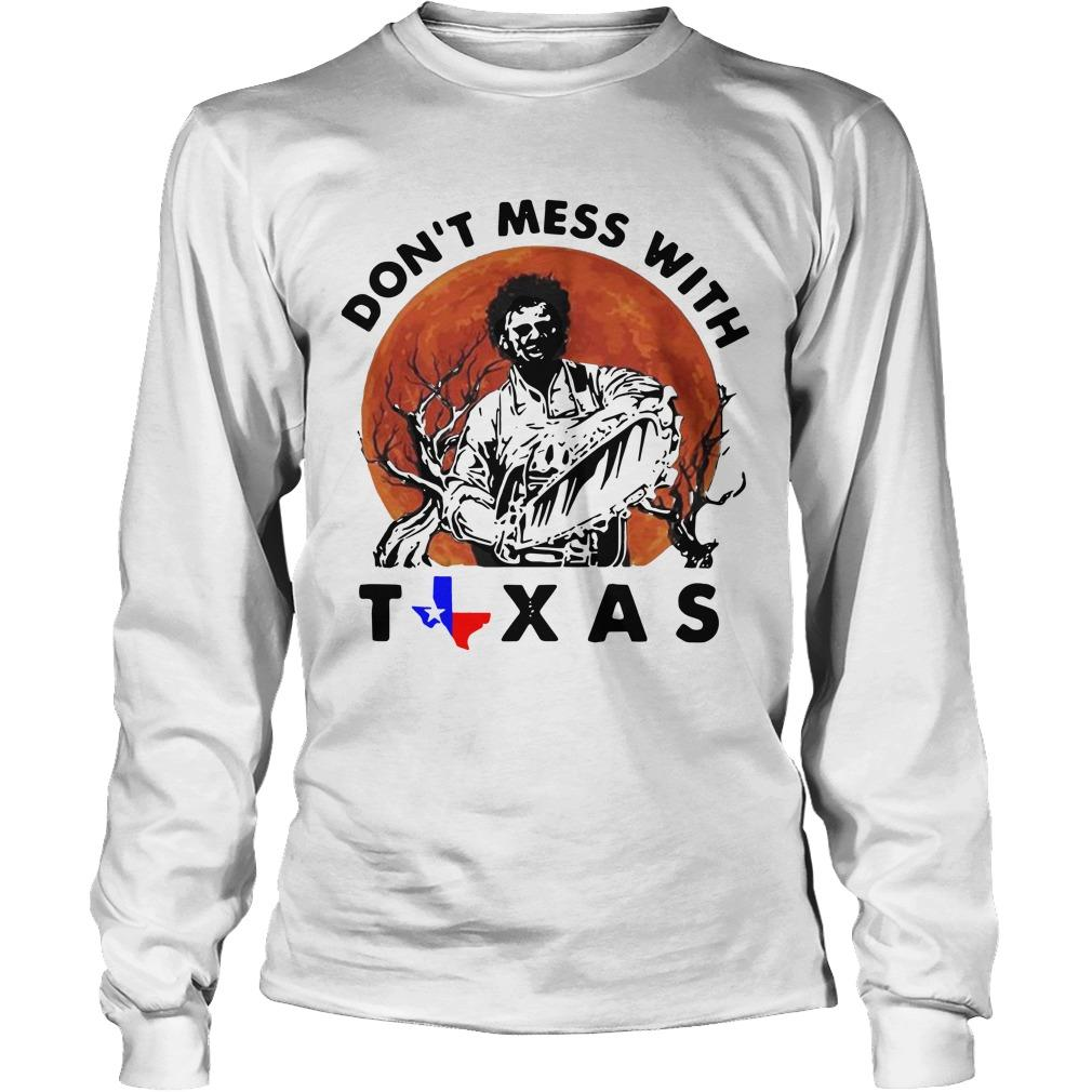Sunset Leatherface Don't Mess With Texas Longsleeve
