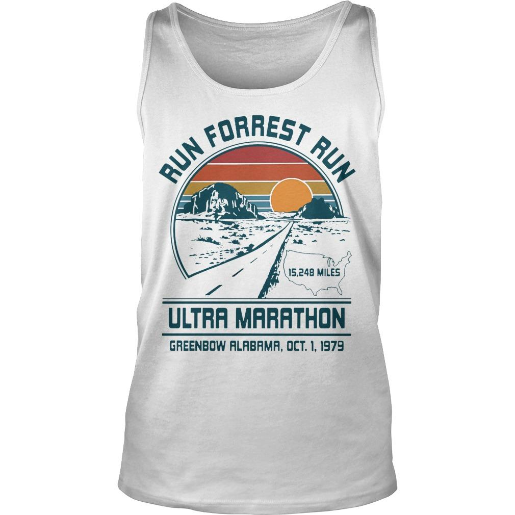 Sunset Run Forrest Run Ultra Marathon Tank Top