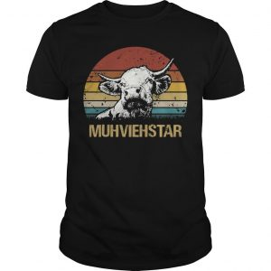 Sunset Vintage Cow Muhviehstar
