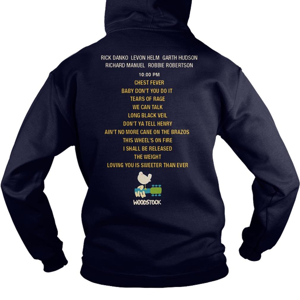 The Band Live At Woodstock Hoodie