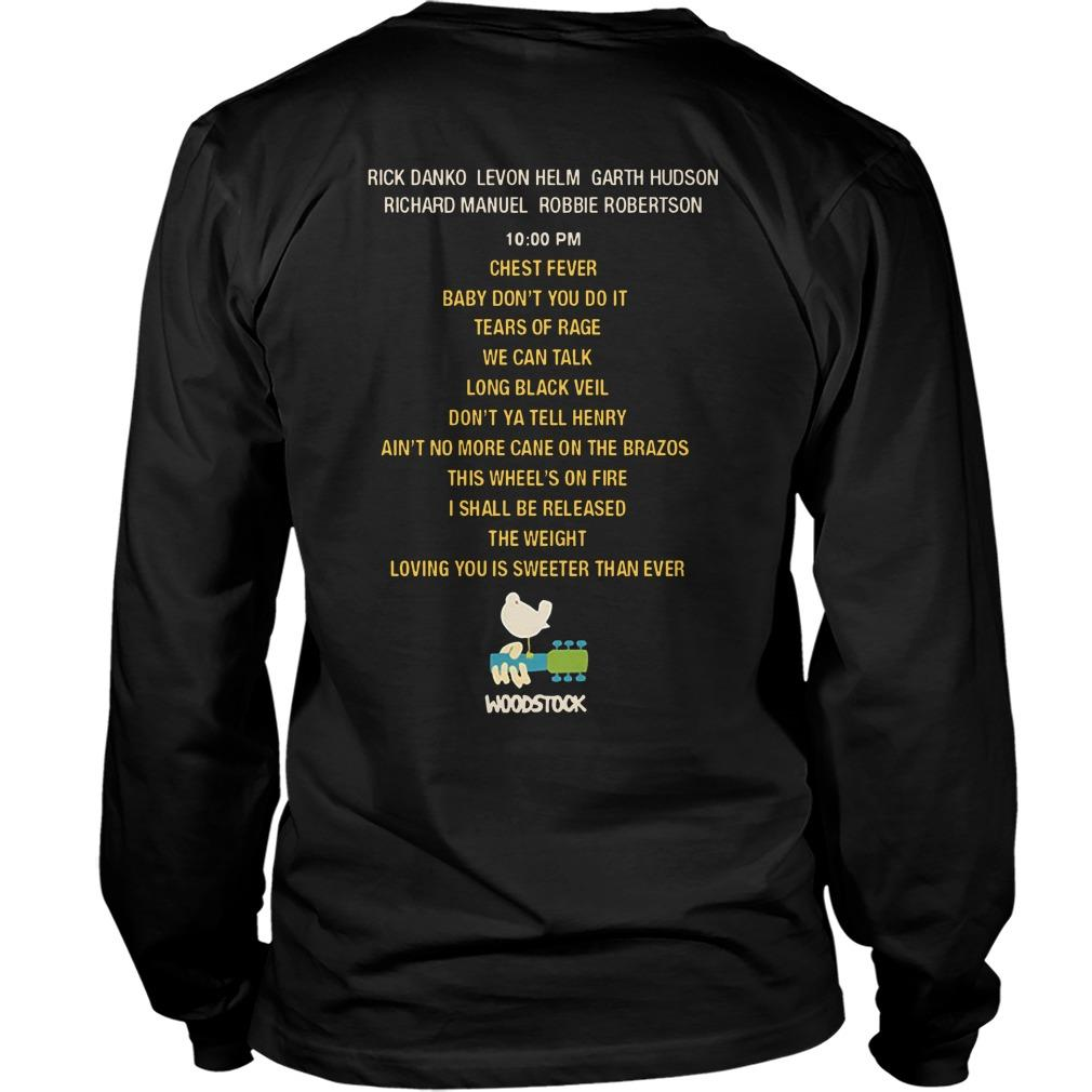 The Band Live At Woodstock Longsleeve
