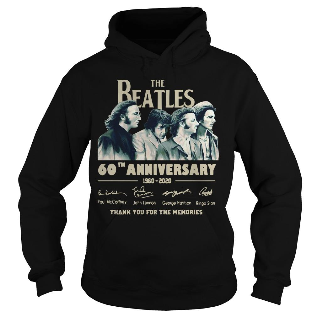 The Beatles 60th Anniversary 1960 2020 Thank You For The Memories Signatures Hoodie