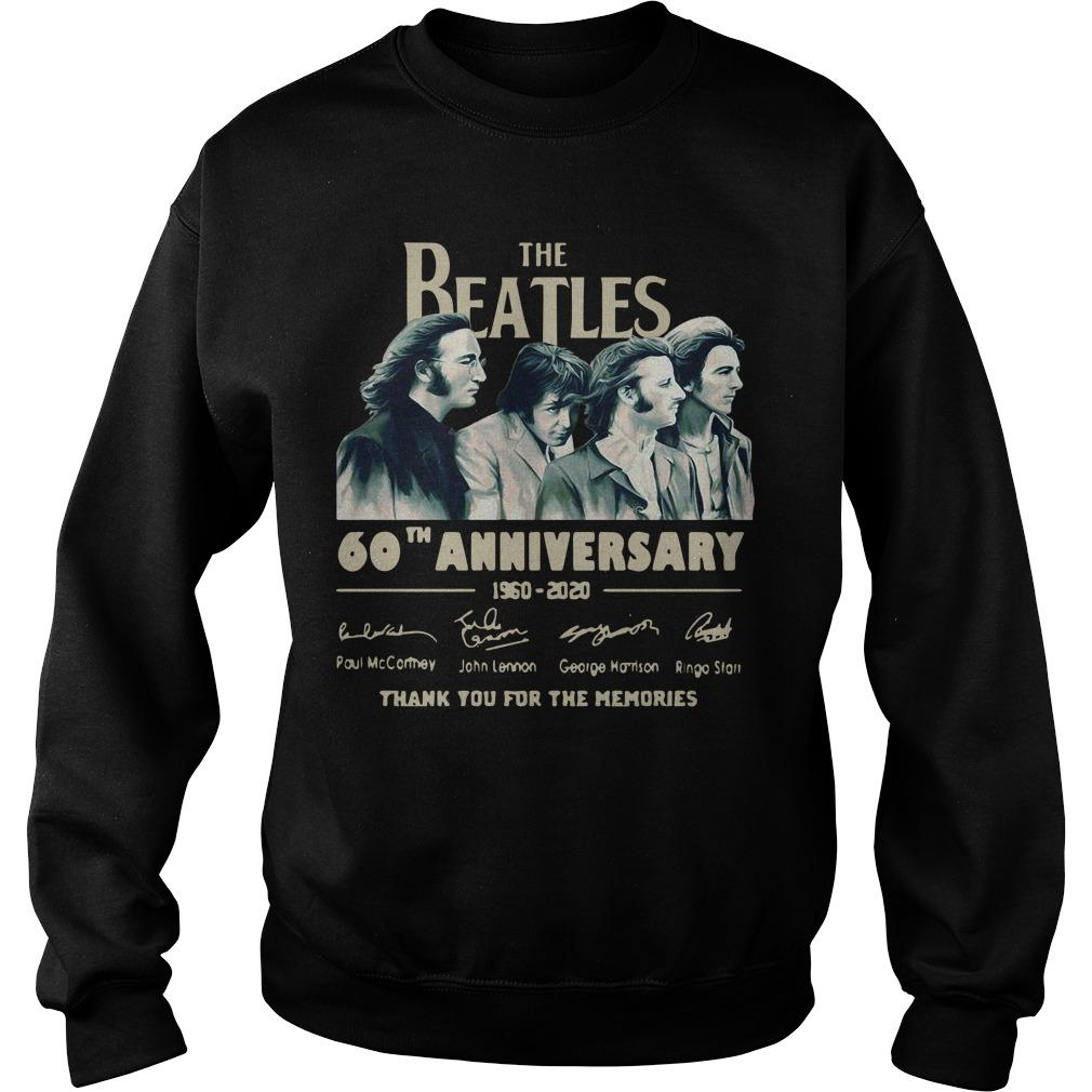 The Beatles 60th Anniversary 1960 2020 Thank You For The Memories Signatures Sweater