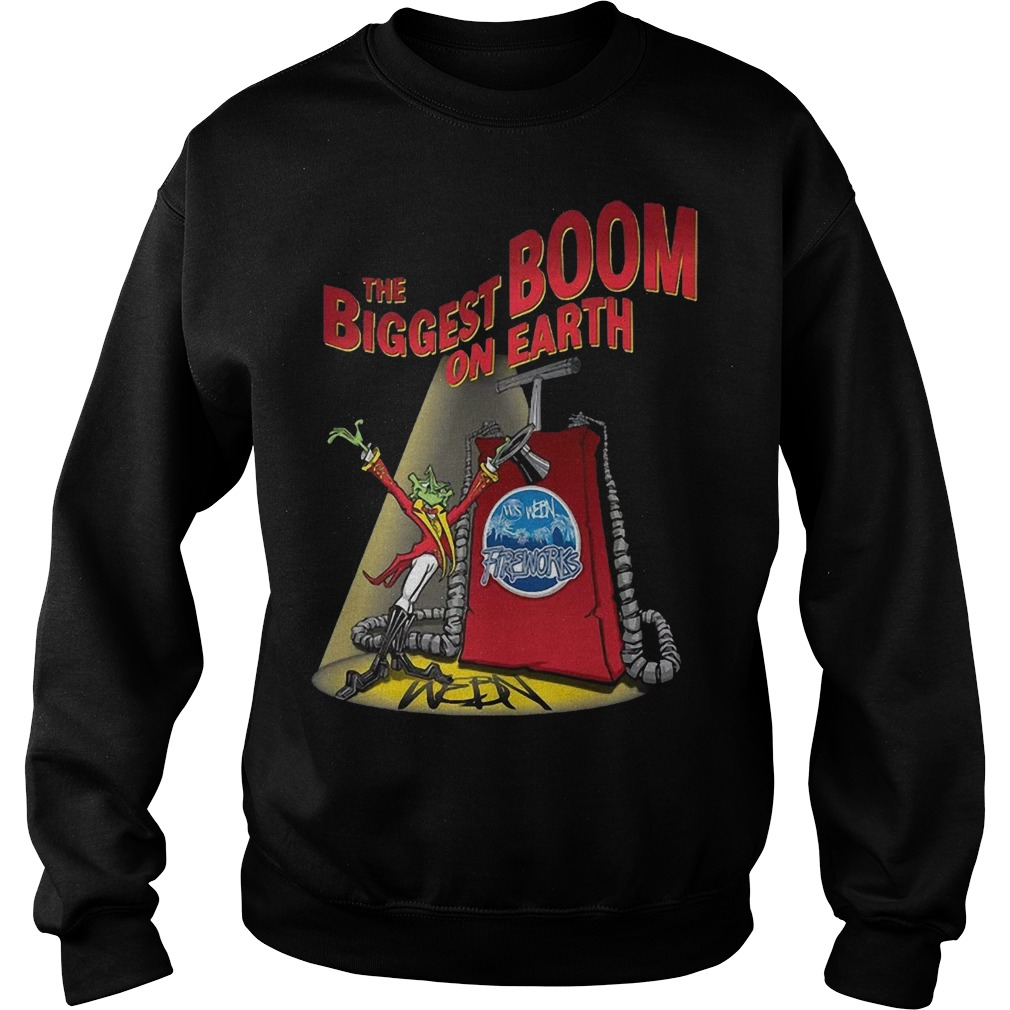 The Biggest Boom On Earth Webn Fireworks T 2019 Sweater