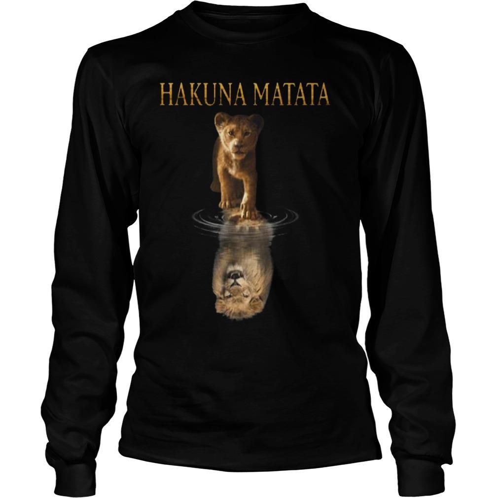 The Lion King Simba Reflection Hakuna Matata Longsleeve