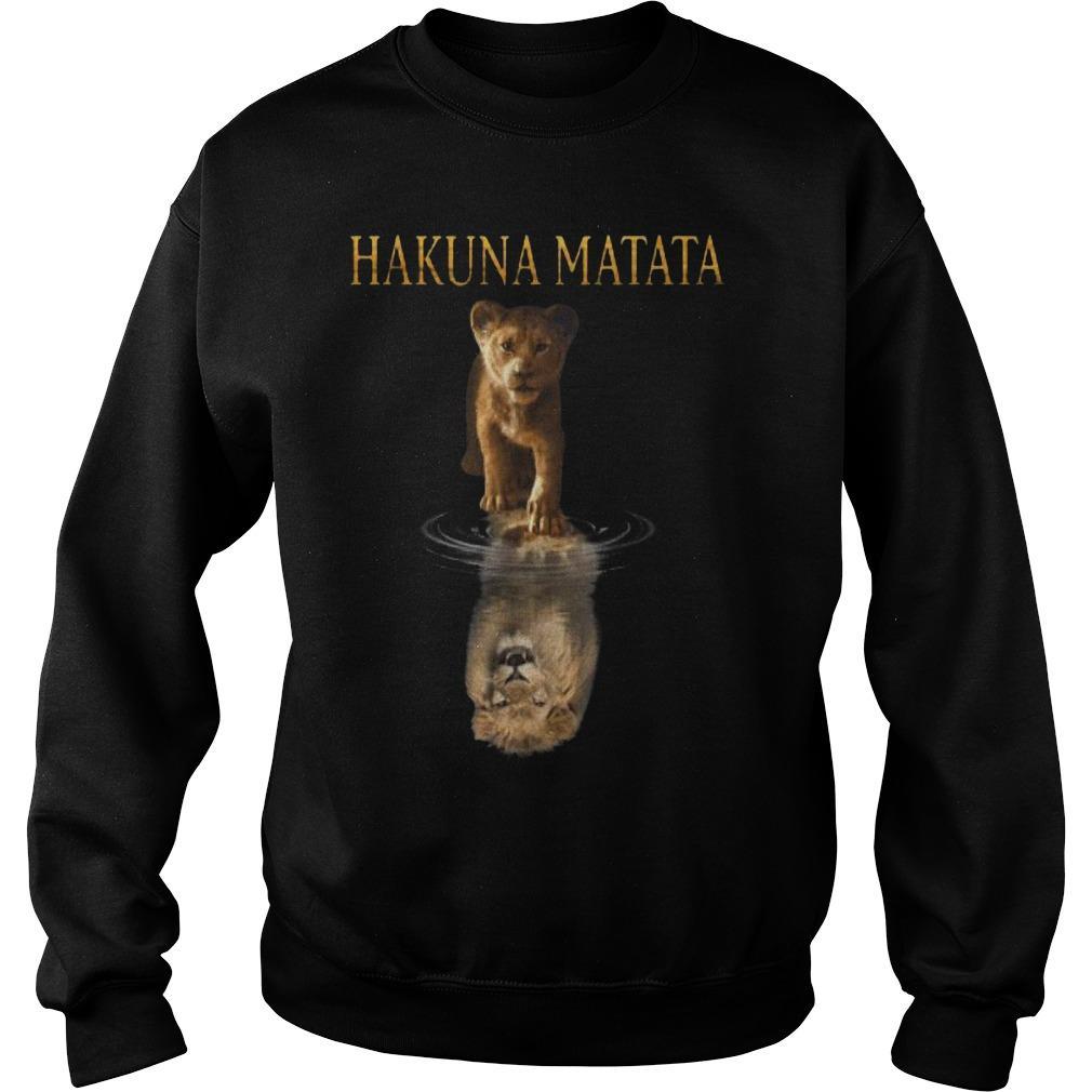 The Lion King Simba Reflection Hakuna Matata Sweater