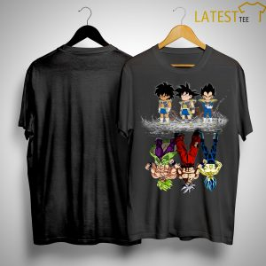 Trio Monsters Gohan Songoku Vegeta Reflection Shirt