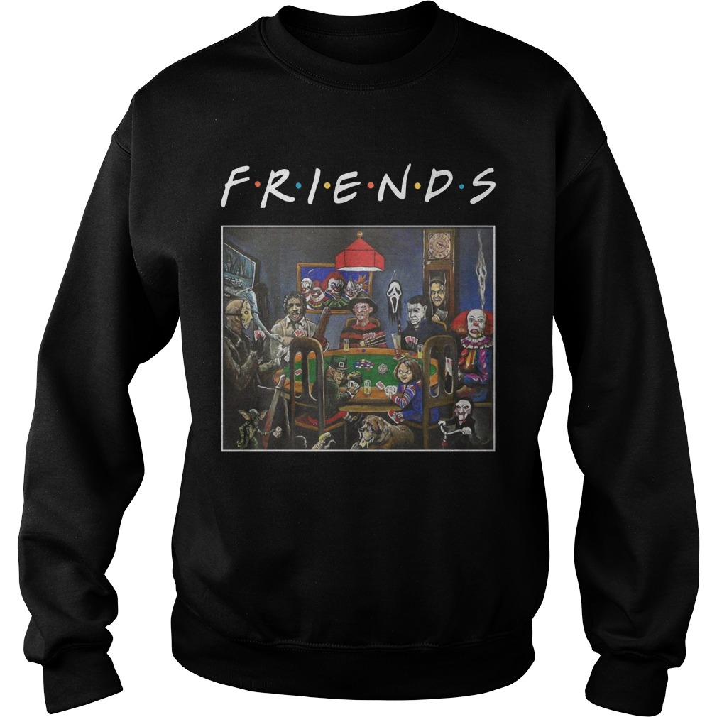 Tv Show Friends Horror Characters Playing Poker Sweater