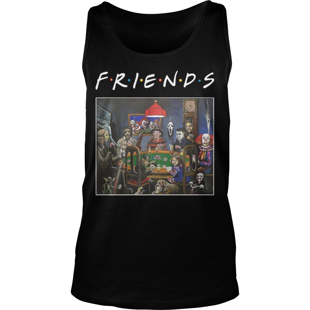 Tv Show Friends Horror Characters Playing Poker Tank Top