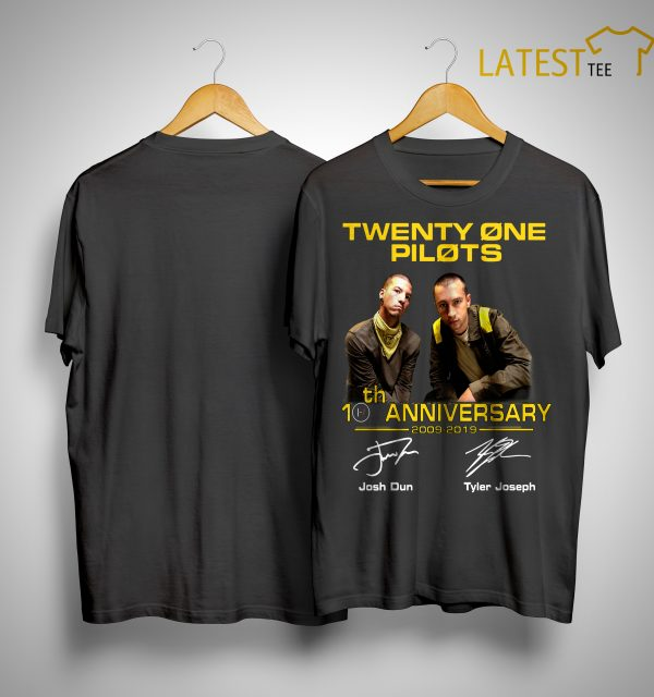 Twenty One Pilots 20th Anniversary 2009 2019 Shirt