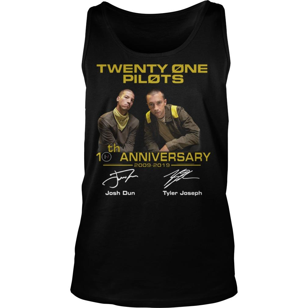 Twenty One Pilots 20th Anniversary 2009 2019 Tank Top