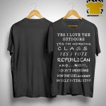 Tyler Snodgrass Yes I Love The Outdoors I'm Working Calss I Vote Republican Shirt.jpg