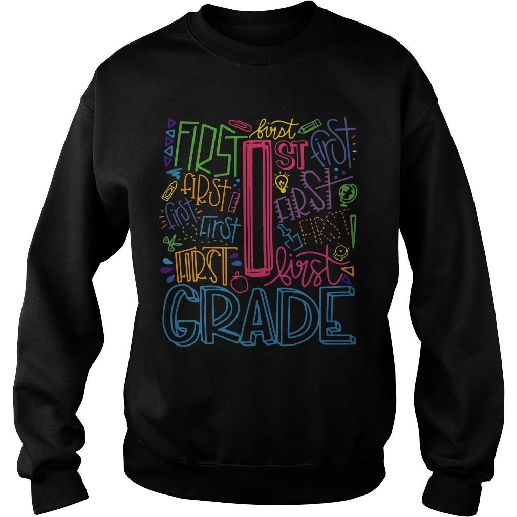 Typo First Grade Sweater