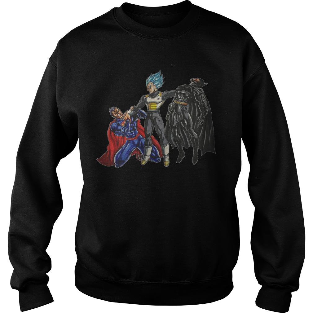 Vegeta Beats Superman And Batman Sweater