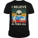 Vintage Alien Unicorn I Believe In Them All Shirt.jpg