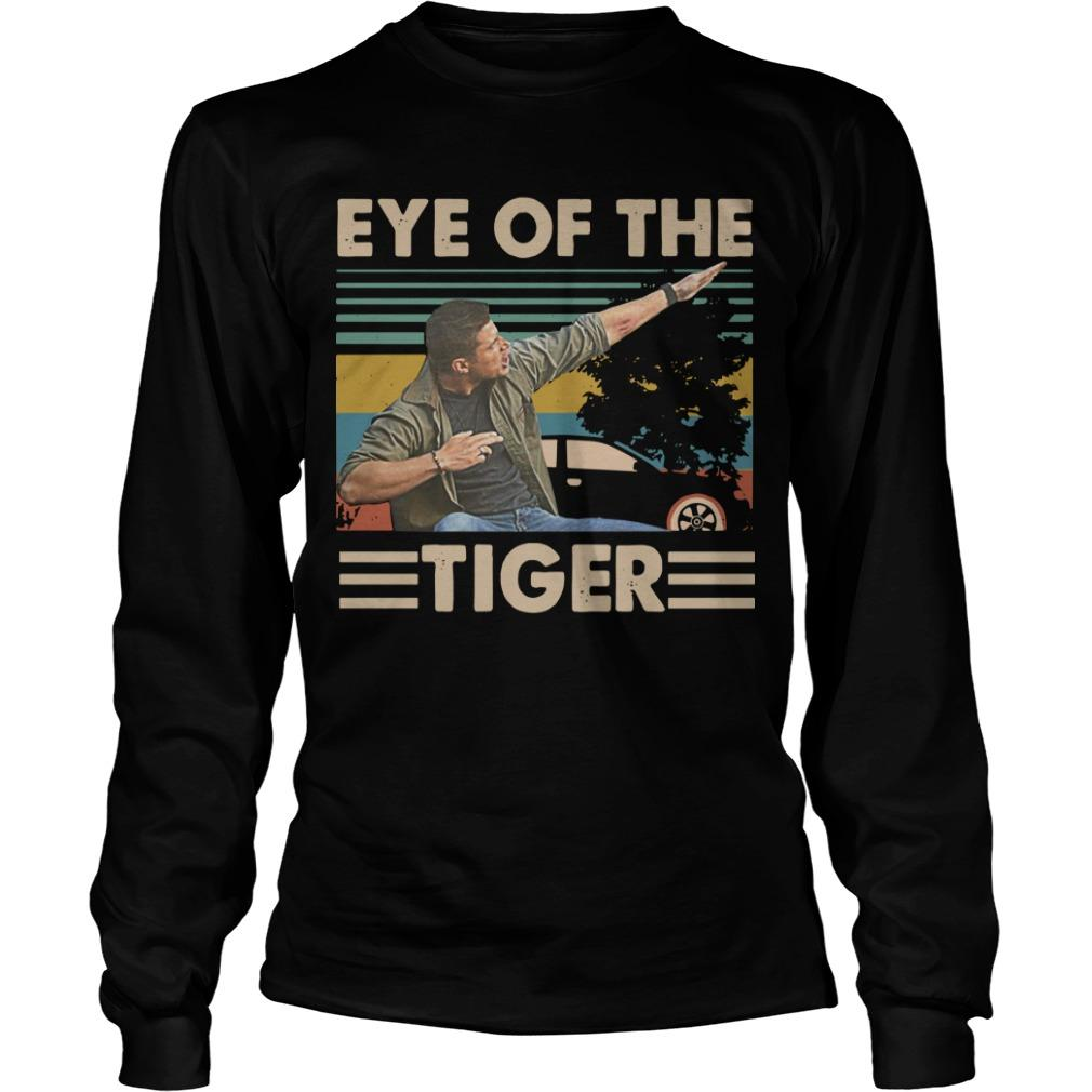 Vintage Dabbing Dean Winchester Dabbing Eye Of The Tiger Longsleeve