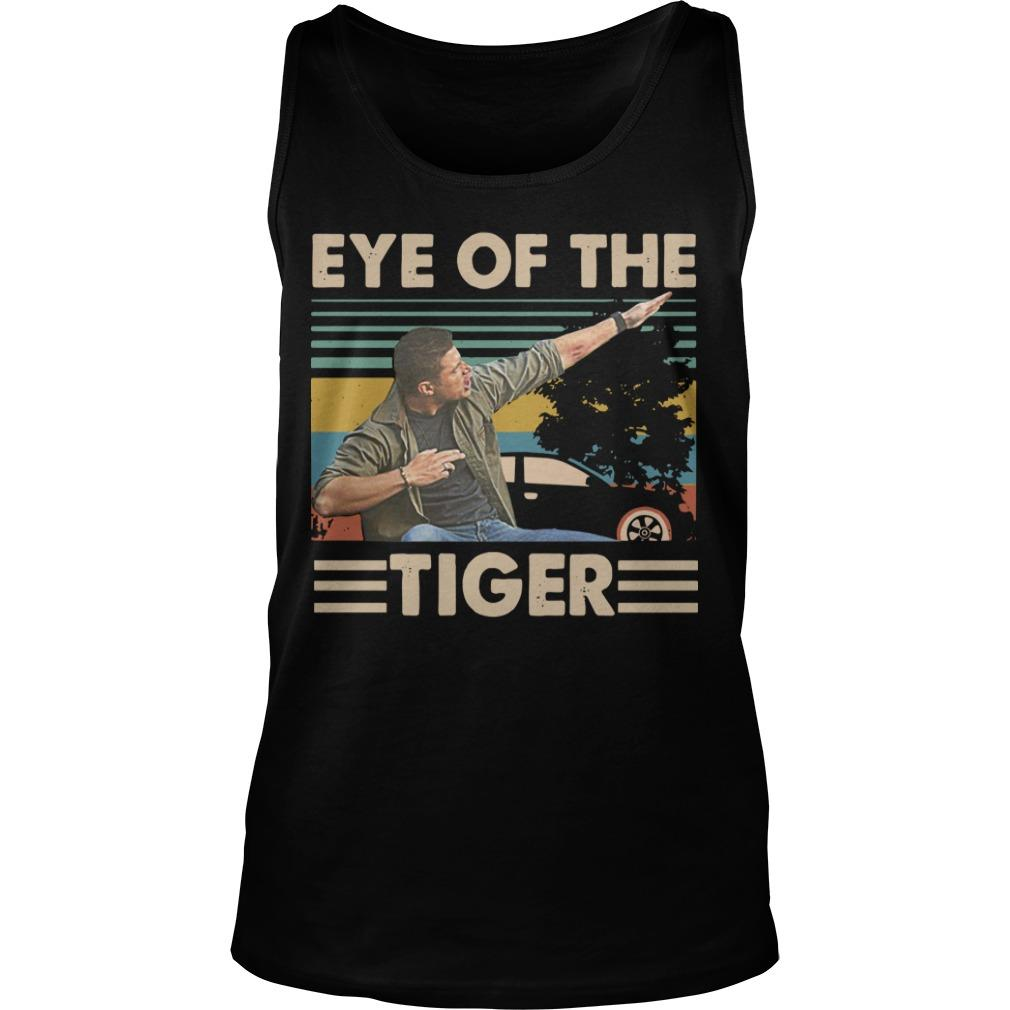 Vintage Dabbing Dean Winchester Dabbing Eye Of The Tiger Tank Top
