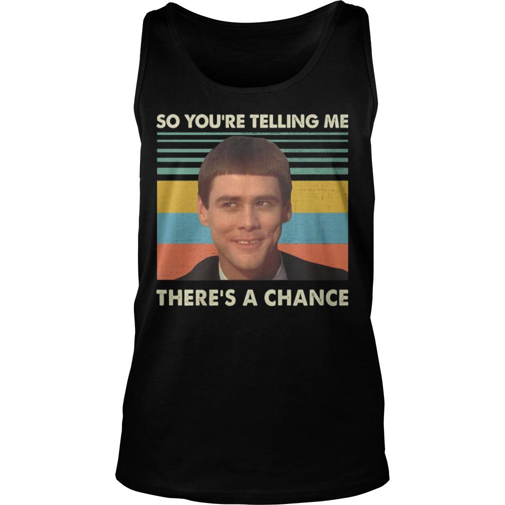 Vintage Jim Carrey So You're Telling Me There's A Chance Tank Top