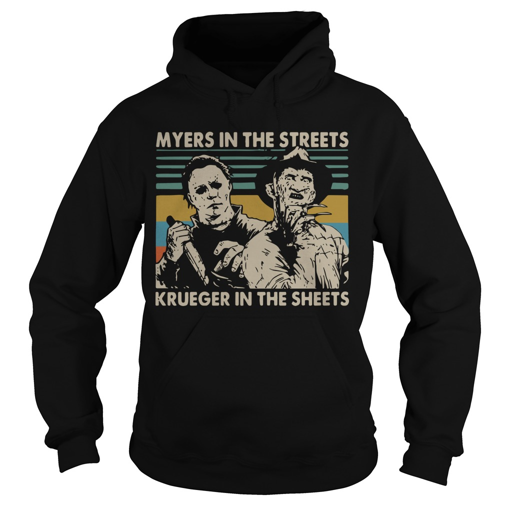 Vintage Myers In The Streets Krueger In The Sheets Hoodie