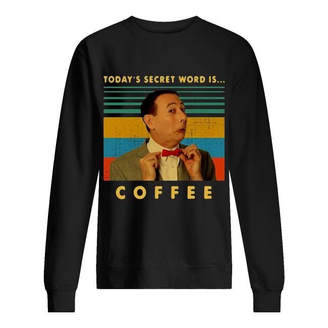 Vintage Pee-wee Herman Today's Secret Word Is Coffee Sweater