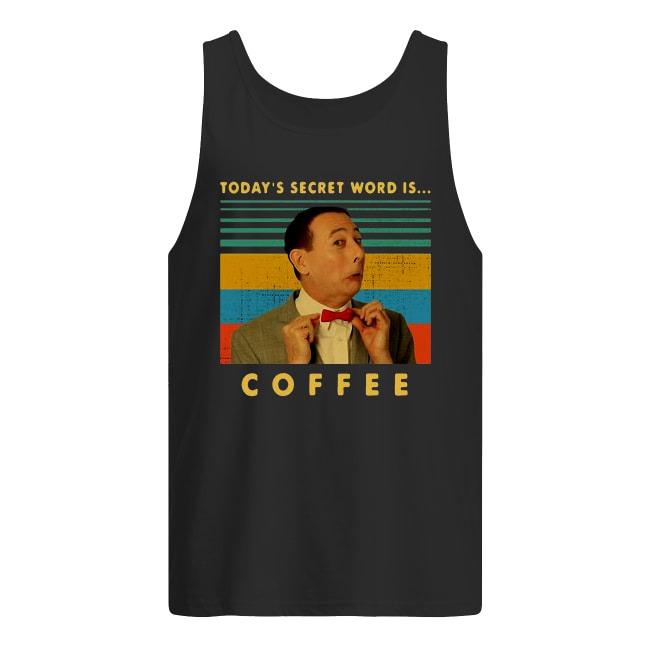 Vintage Pee-wee Herman Today's Secret Word Is Coffee Tank Top