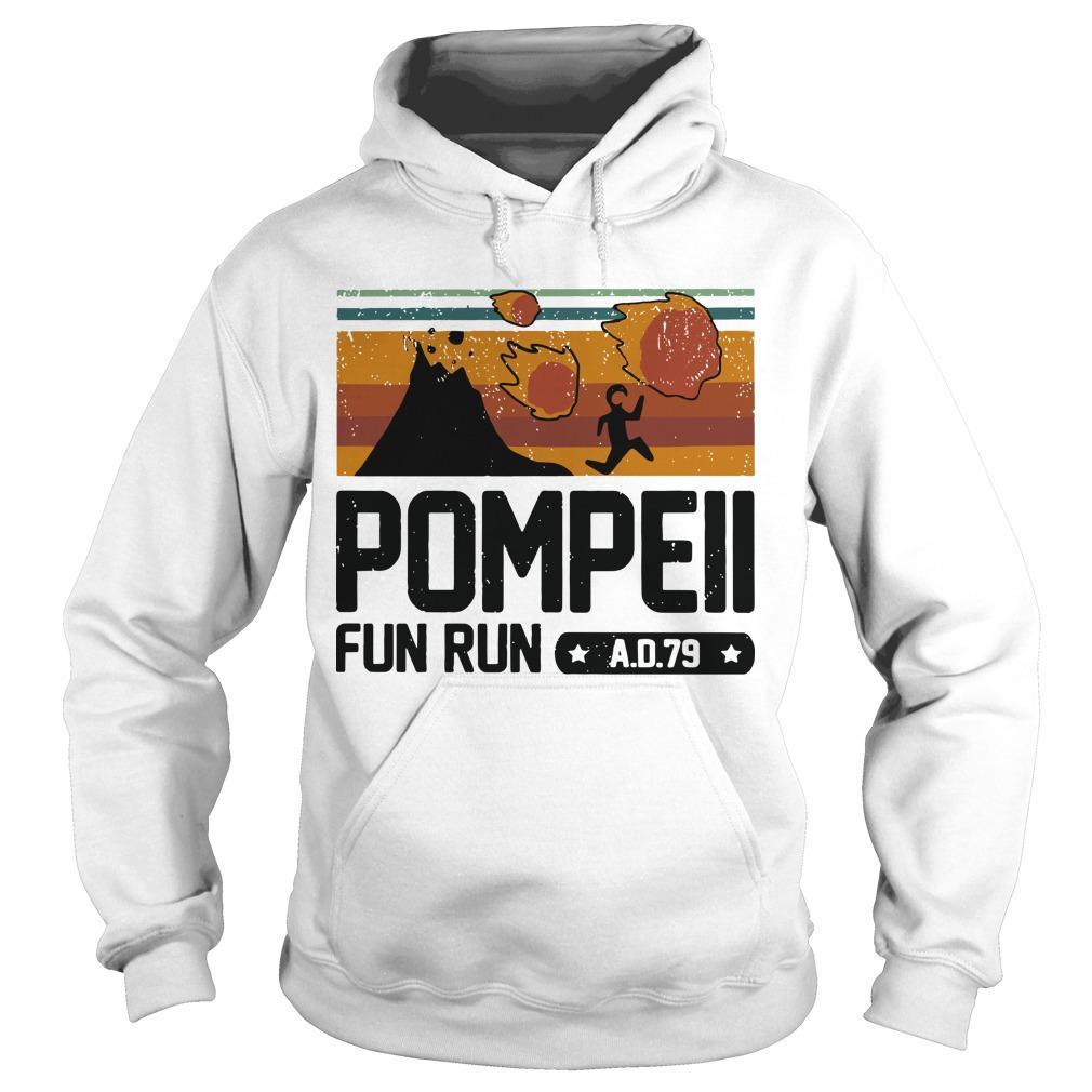 Vintage Pompeii Fun Run Ad 79 Hoodie