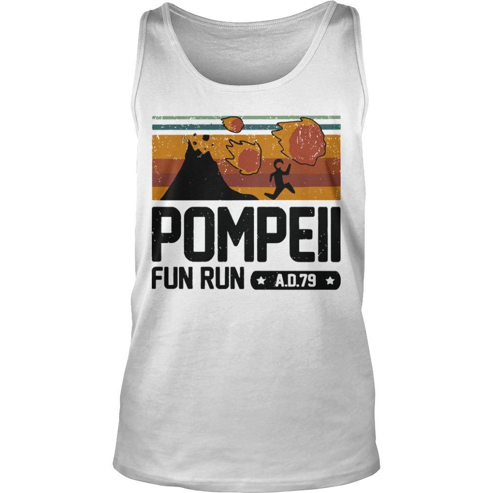 Vintage Pompeii Fun Run Ad 79 Tank Top
