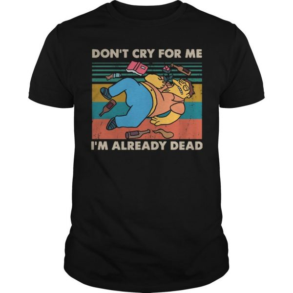 Vintage Simpsons Don't Cry For Me I'm Already Dead