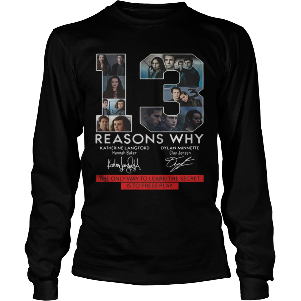 13 Reasons Why The Only Way To Learn The Secret Is To Press Play Longsleeve