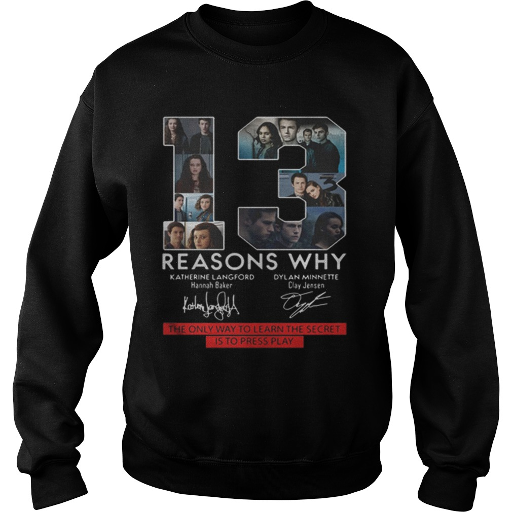 13 Reasons Why The Only Way To Learn The Secret Is To Press Play Sweater