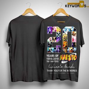 20 Years Of Naturo 1999 2019 700 Chapters Thank You For The Memories Signatures Shirt