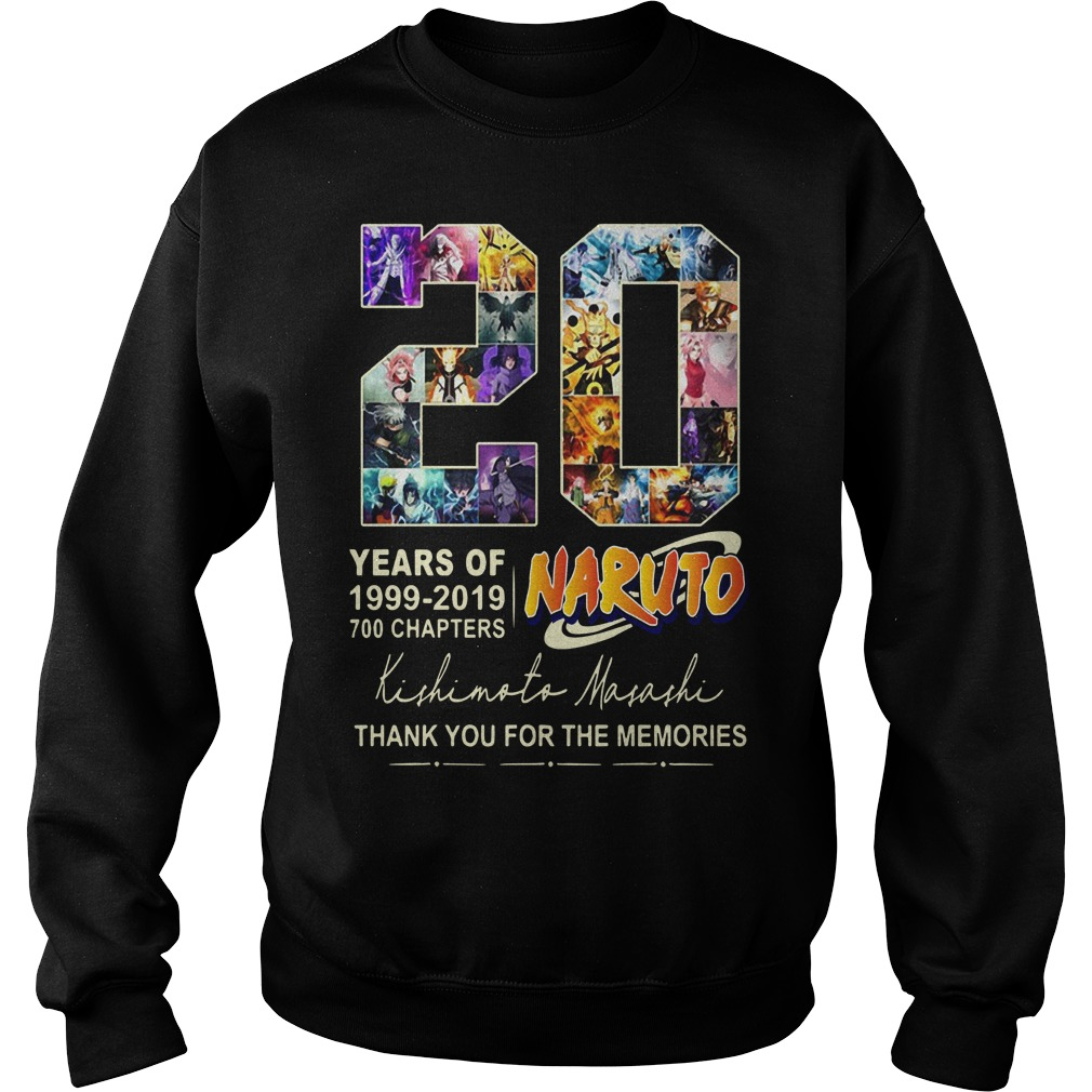 20 Years Of Naturo 1999 2019 700 Chapters Thank You For The Memories Signatures Sweater