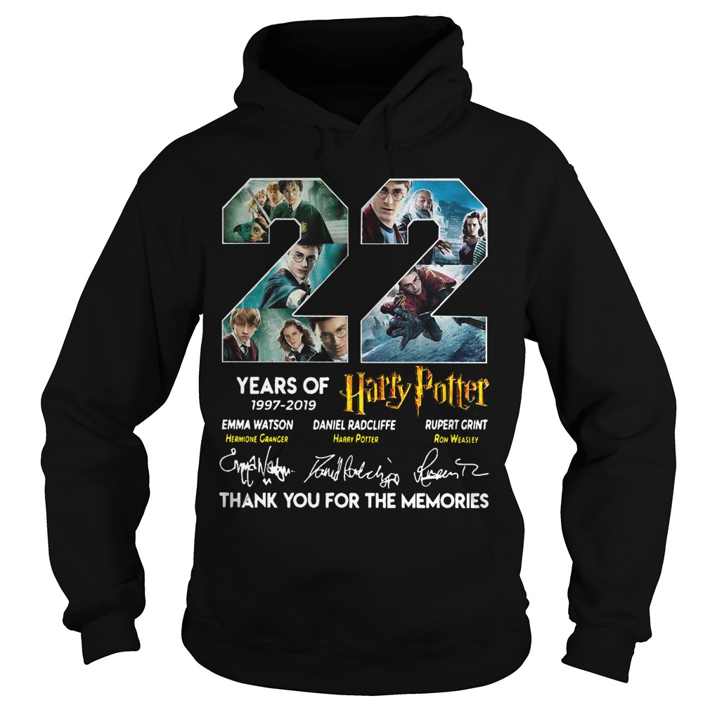22 Years Of Harry Potter 1997 2019 Thank You The Memories Signatures Hoodie