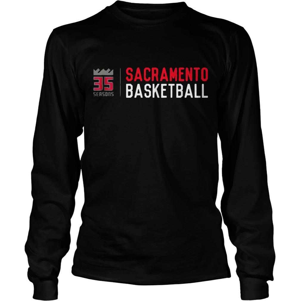 35 Seasons Sacramento Basketball Longsleeve